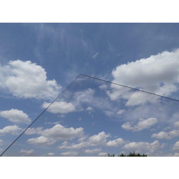 10mm tömör polikarbonát lemez víztiszta kültéri UV2 ( 10mm x 205cm x 305cm ) 6,2525m2/tábla