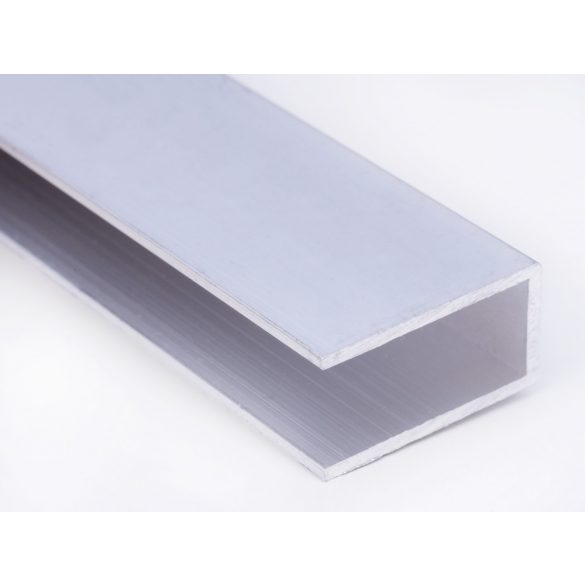 Alu U -profil 10mm polikarbonát lemezhez 640cm-es