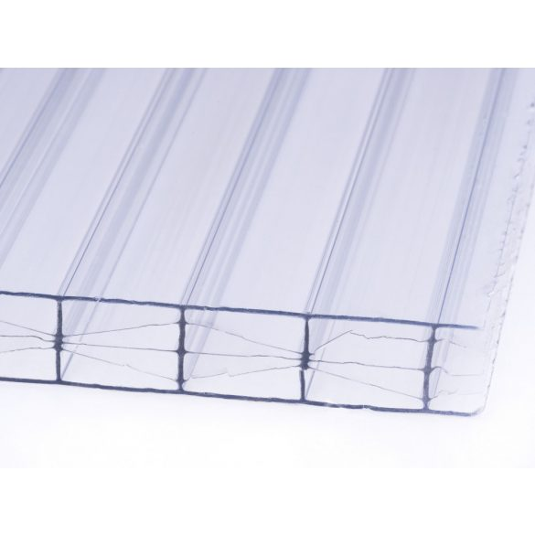 Víztiszta PRÉMIUM X-struktúrás Polikarbonát 10mm  (100x100cm)